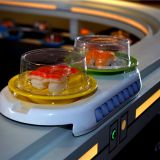 Wear-resistant delicate patterns humanized no noise Hot Pot Conveyor Belt Machine