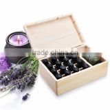 Accept oem natural color solid wooden essential oil box,packaging boxes