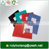 2015 promotional office file folder item with innerside slip pockets document holding file folders