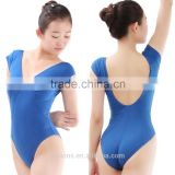 Short Sleeve Gymnastics Leotard, Gymnastic Leotards for Girls, Cotton Spandex Gymnastics Leotards