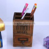 Spruce wooden pen holder/wooden pencil vase