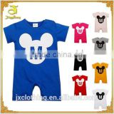 High quality soft cotton plain wholesale baby romper/printed romper/baby clothing unisex