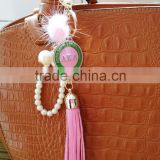 AKA pearl Fashion Braided Leather tassel Keychain Car Keychain auto Keyring AKA keychain                                                                         Quality Choice