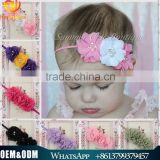 Cute girl princess headbands baby girl flowers cotton elastic headband kids handmake pearls flower headband for girls