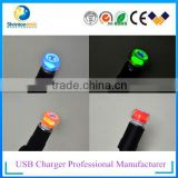 Original design 2 usb car charger for mobile phone and tablet high power 5V2.4A with LED light
