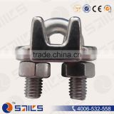 Polished stainless steel wire rope cable clip