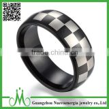 High quality black plated tungsten ring charm jewellery wedding ring unique black finger ring