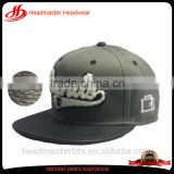 custom 6 panel acrylic pu brim plastic buckle woven label embroidery patch Gary snapback cap
