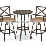 Cast Alu. Swivel Bar Stool, Cast Alu. Pub Table, Outdoor Pub Table&Swivel Bar Stools,Outdoor Bar Stool Sets