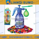 WATER BOMB TERM SET W/72 PCS WATER BALLOONS AND 2PCS SIMPLE WATER BALLOON TYING TOO and pump filler