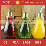 New Glass Light Bulb Shaped Bottles with Screw Cap                                                                         Quality Choice