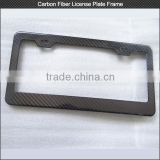 Free shipping! Top quality 100% full carbon fiber license frame , modern carbon fiber license plate frame