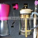 grinder-coffee maker set high quality manual coffee bean grinder set