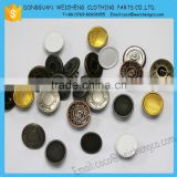 Custom shank button metal jeans button for clothing/Fashion garment custom made metal jeans button