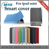 for ipad mini case with back cover , smart cover for ipad mini with retail package