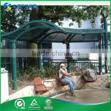 2015 Hot Sale High Quality hot-dipped galvanized steel & PC sheet Friendly And Waterproof Wpc Pergola