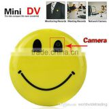 Mini Smiley Smile Face Brooch Broach Hidden Pinhole Camera Camcorder Cam Video Dvr Recorder Cctv Car Wireless