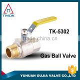 NPT male female thread forged full port CW617n material for gas 1000psi DN 100 motorized PTFE seal brass gas valve in TMOK OUJIA