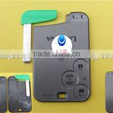 New 3 Button Uncut Blade Replacement For Renault Laguna Remote Smart Card Key Shell Case