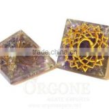 Orgonite Engraved Crown Chakra Pyramid | Manufacturer-Supplier-Wholesaler-Orgone Energy Chakra Pyramid