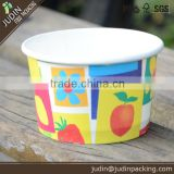 110ml coconut shell ice cream cup disposable printed