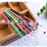 Novelty 6pcs /set color pencil natural wood drawing pencil school stationery sets promotional grift