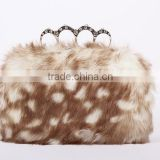 2015 new style design hair lady party evening bag/lady hand bag