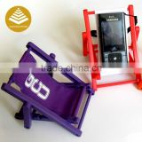 Customized no charger cell phone stand holder rubber cellphone desk holder