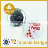Meaningful gifts wedding Paris eiffel tower design collar tinplate button badge