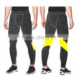 (Trade Assurance) 2016 Customized Hot Selling Compression Running Tights/ men Sportswear