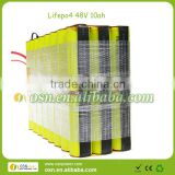 battery 48V10AH lifepo4 material for electric tools, motorcycle, scooter, ebikes, pedals,e-golf car,car start,etc.