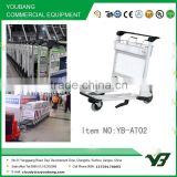 2015 New 3 wheels 6063 aluminum alloy airport hand cart with brake (YB-AT02)