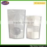 Free Sample Packing Food Safe ISO9001:2008 Without Printing White Or Brown Bag Kraft Paper White With Clear Window
