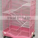 ProSelect Plastic Cat Cage Deluxe Platforms - 4 layers Cat Playpen pink                                                                         Quality Choice