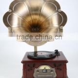 Newest old gramophones European Style wooden antique replia Gramophone for Christmas gift