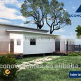 48 square meter Middle East prefabricated sandwich panel house with light steel structure and solar system