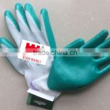 Protective Level 5 Anti Cutting Nitrile Gloves Labor Work coated nylon gloves