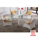 Manufacturer wholesale garden dining set cast aluminum garden furniture/bronze metal dining set