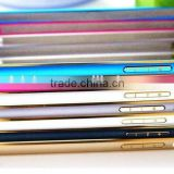 Beautiful Colorful Metal Aluminum Bumper Frame with double gold ring Shell Case Cover For iPhone 6 4.7