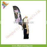 Outdoor walking display advertising human flags feather flag
