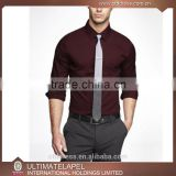 Wholesale new style custom made red wine mens dress shirts models for men