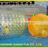 0.8mm pvc inflatable giant outdoor Water Roller Ball / human sized hamster ball/cheap plastic balls