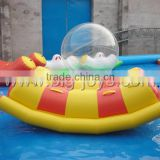 Fashional mini inflatable water totter toys, crazy sway water game, funny seasaw inflatable