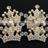 Hair accessory crystal pearl beads Crown