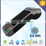 Android Portable POS Terminal with MSR,Card Reader,RFID,GPRS,Printer,Camera,Barcode Reader,EMV