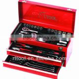 2015 NEW ITEM 90pcs Metal iron case tool set kraftwelle wholesale mechanics90pc tool sets in metal box