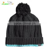 promation/high quality kniting Bobble Hat/Custom blank Beanie Hat, Top Ball/Pom Beanie