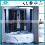2016 china zhejiang hangzhou competitive factory temper fashional glass steam shower room with many different style