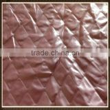 2013 new arrival diamond-type lattice faux leather fabric for jacket