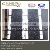 Ceramic rubber liner with steel back, hexagonal ceramic tile and rectangle tile embedded in rubber matrix
